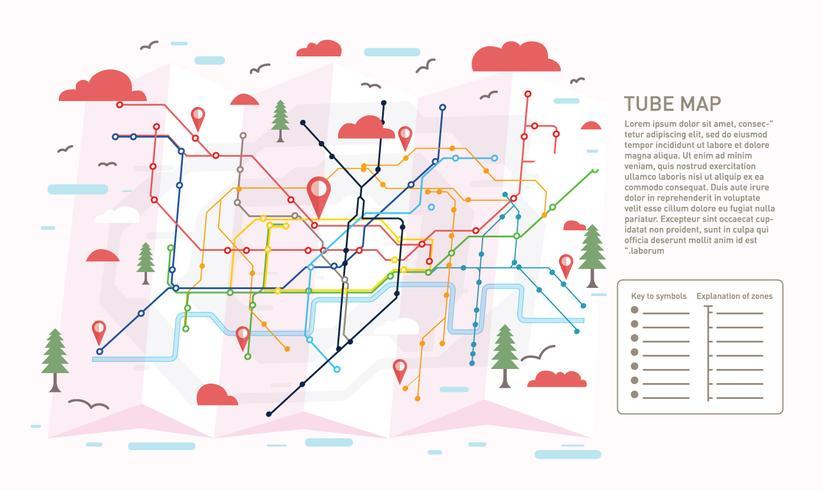 Rör karta Ilustration Vector