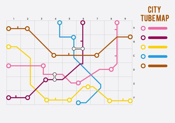 Gratis unieke tube map vectoren