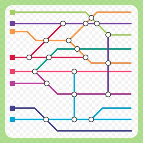 Metro Map Scheme Background