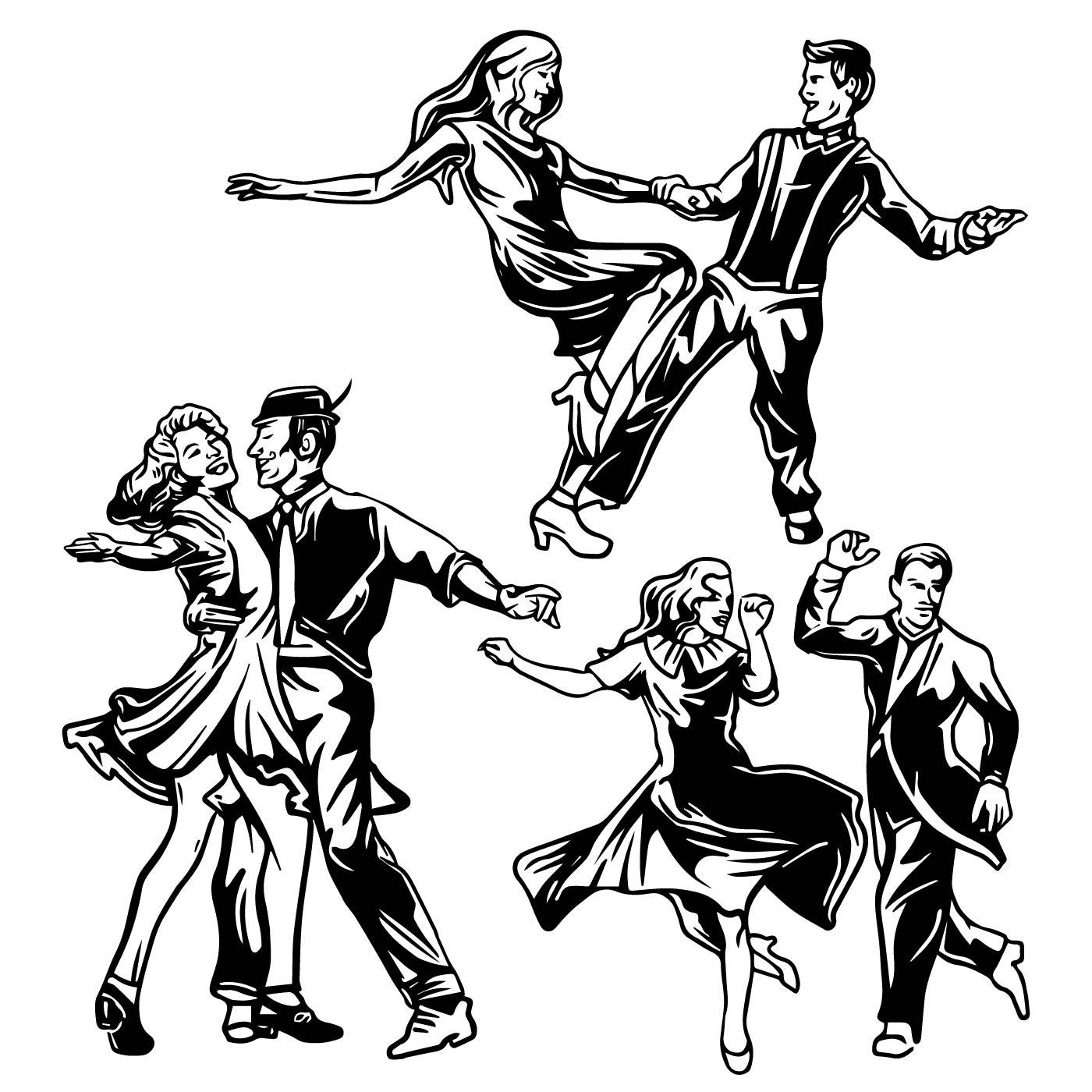 картинки с танцующими людьми графика женщины, поздравляю вас