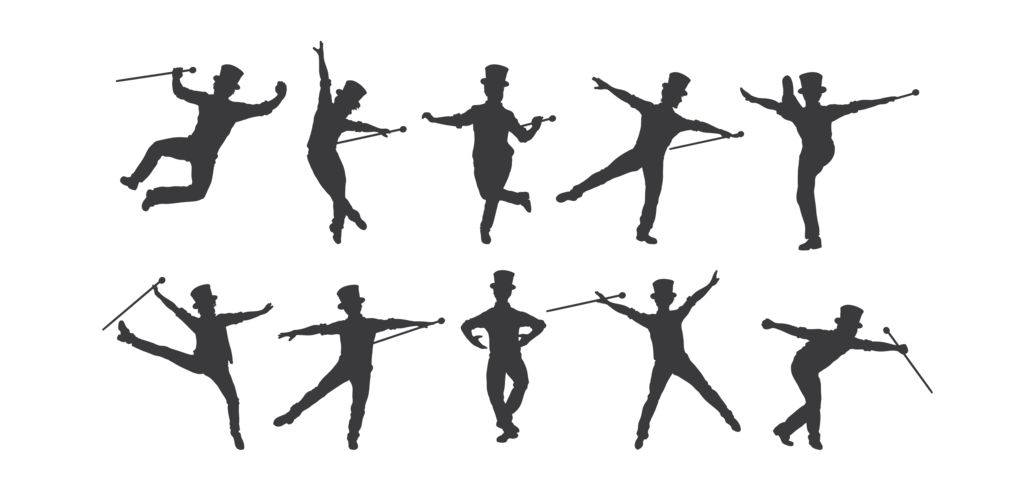 Tap Dance Silhouettes Vector - Download Free Vectors