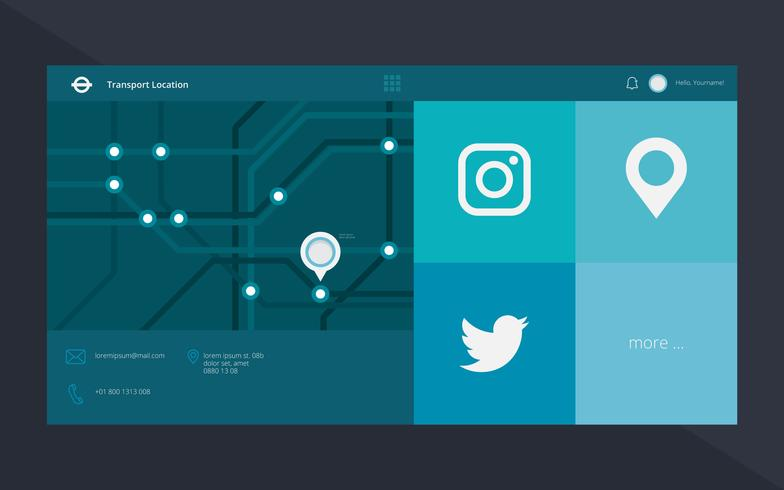 Tube Karte London Transport. U-Bahn. Metro-Massenverkehr-Netz und Social Media-Schablone.