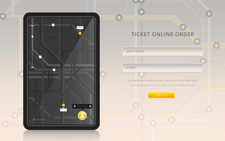 Tube Map Mass Transportation. Mobil platsdelning och sociala medier.