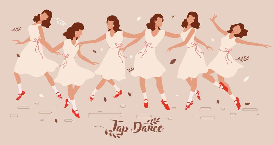 Tap Dance Lady Vector