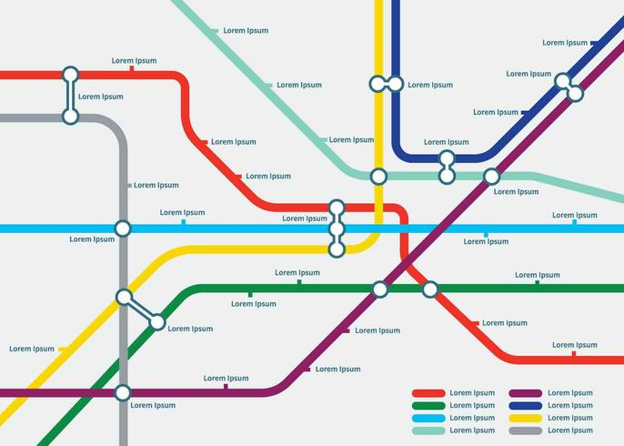 Free Tube Map Template Illustration Download Free Vector Art