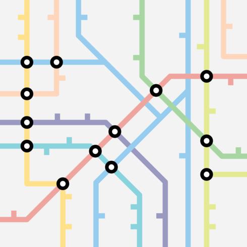 Schéma de la carte du métro