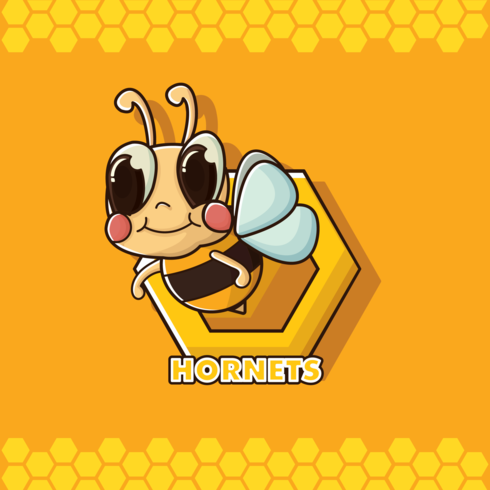 Gratis Hornet Cartoon Vector