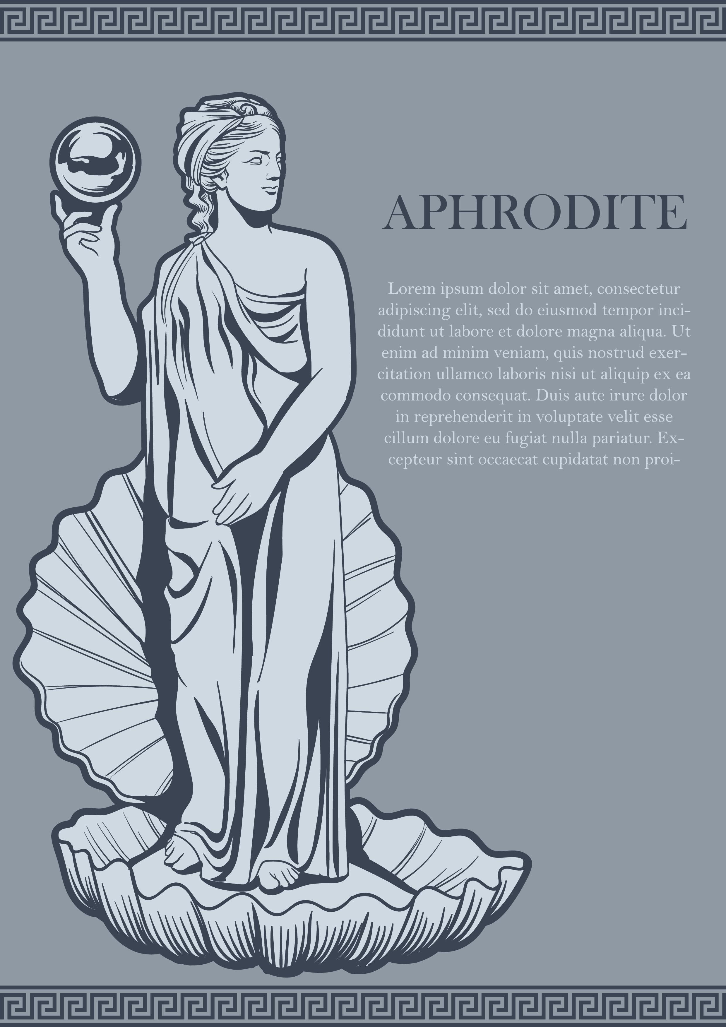 aphrodite goddess symbol - HD2480×3508