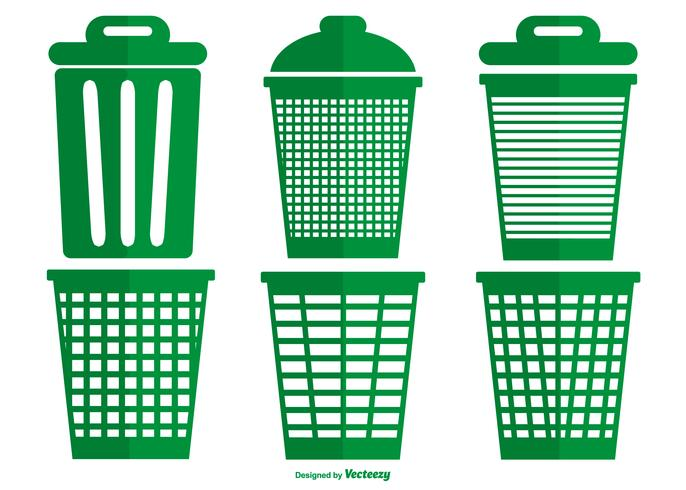 Waste Basket Vector Collection