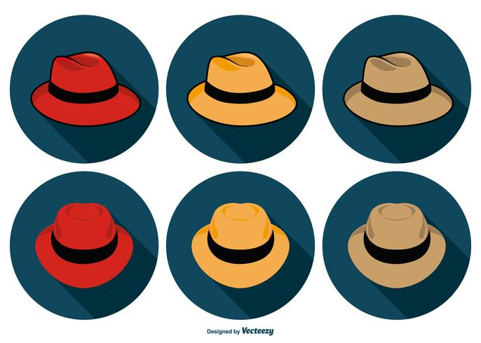 Panama Hat Icon Collection