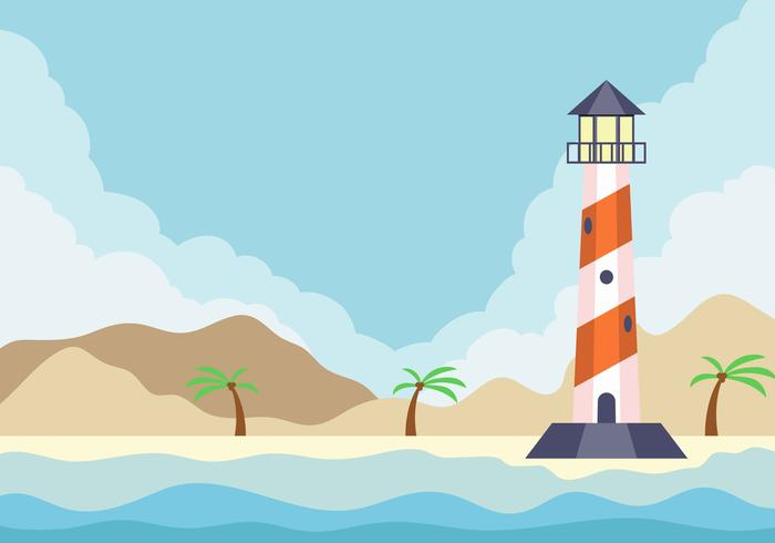 Cove With Lighthouse Background