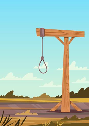 Hanging Gallows Vector