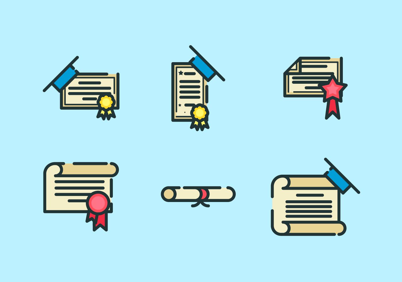 Paquete de Vector Gratis de Diploma - Descargue Gráficos y Vectores ...