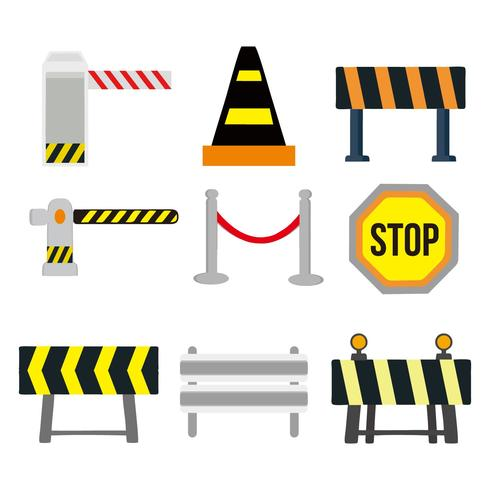 Guardrail and Traffic Sign Vector