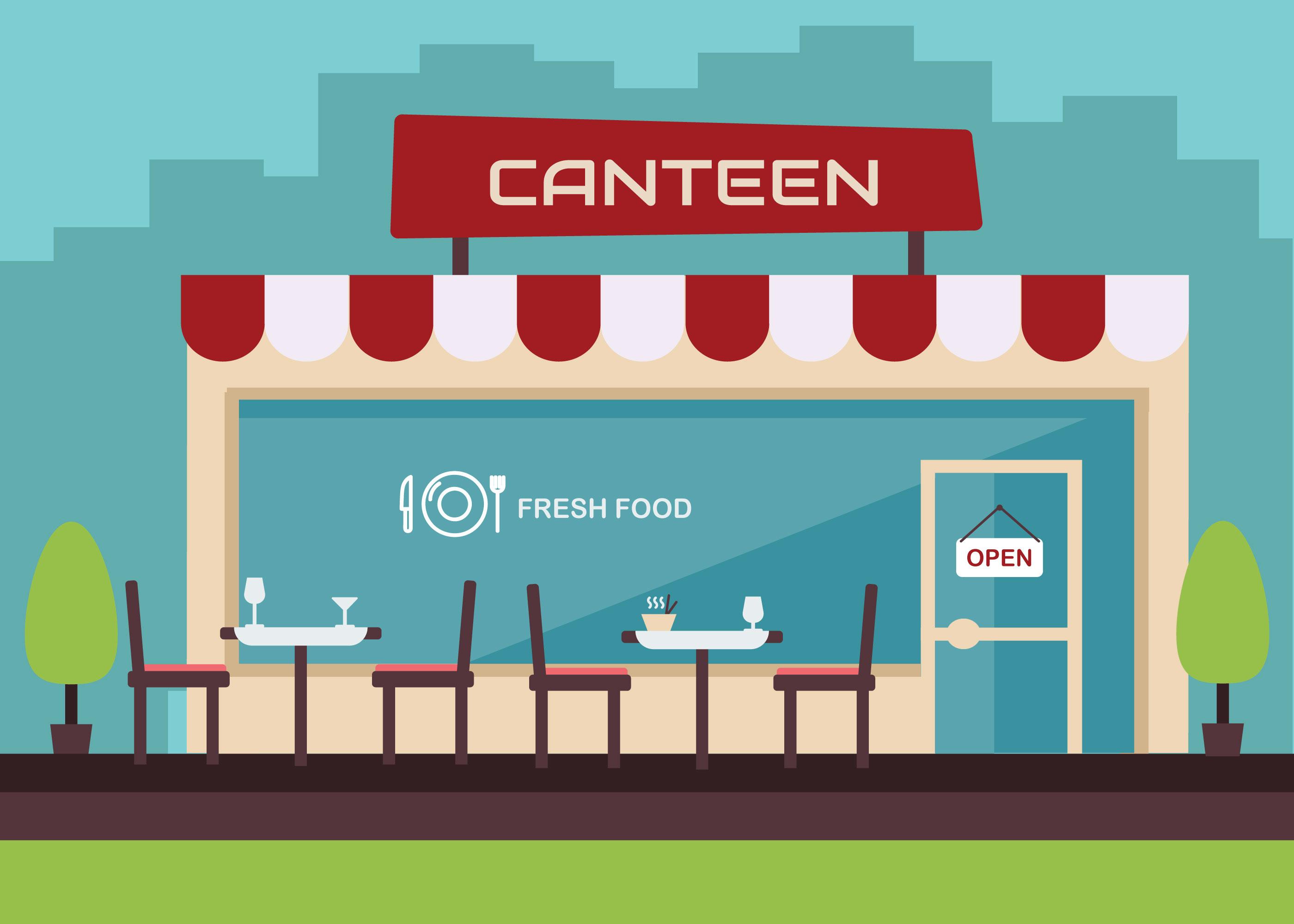 Free Canteen Vector Download Free Vectors Clipart
