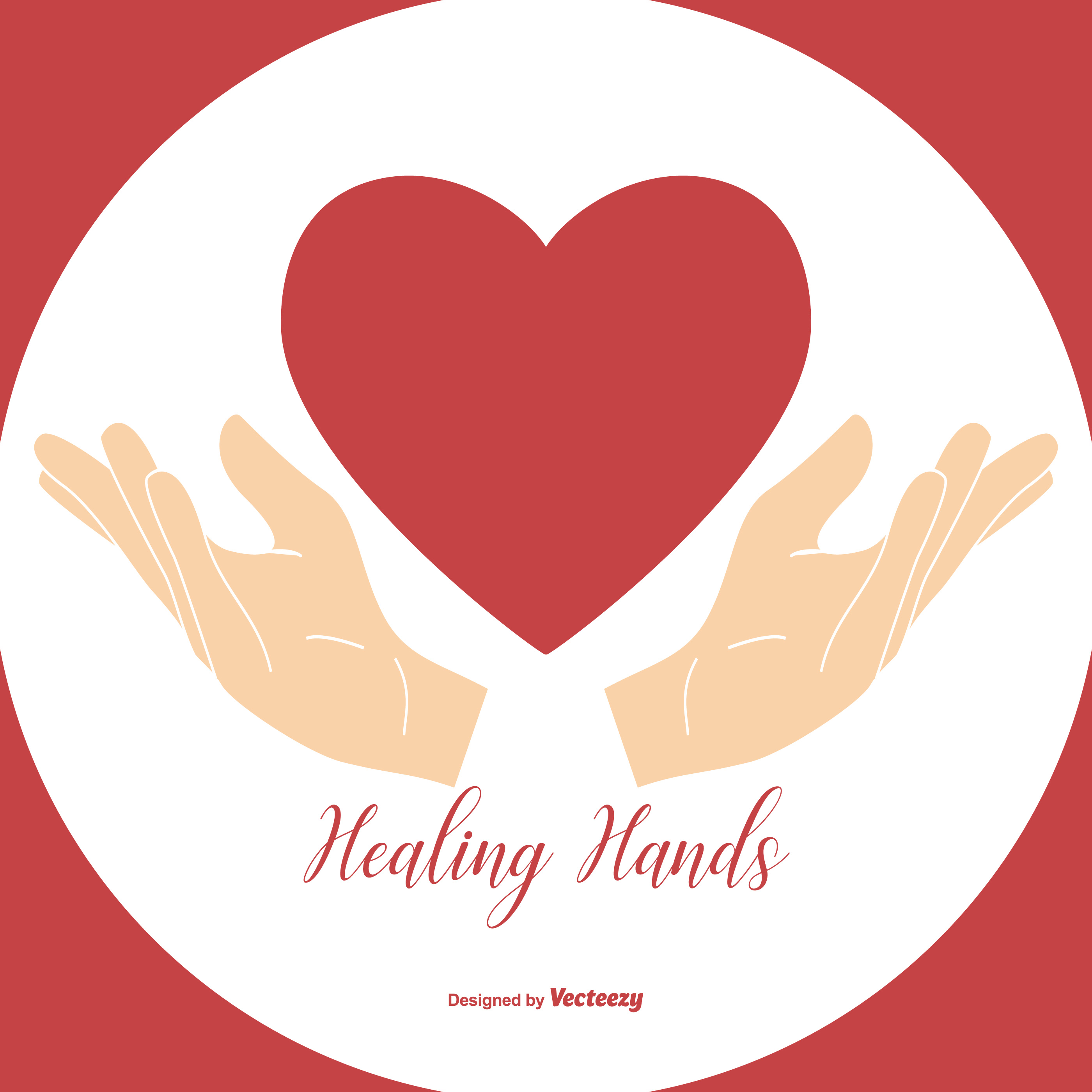 Healing Hands Holding Heart Illustration - Download Free ...