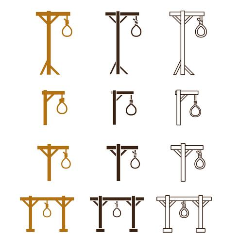 Gallows icon set
