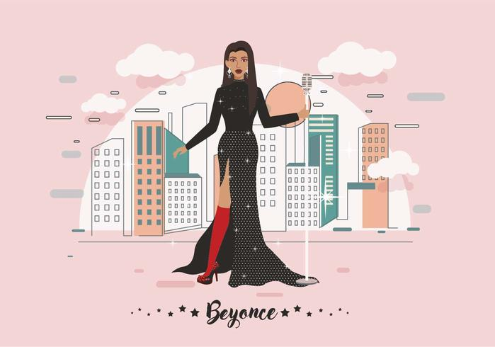 Best Dress Beyonce Vector