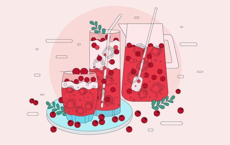 Tranbär Juice Vector