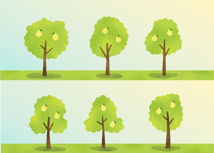 Vector de árbol de melocotón gratis