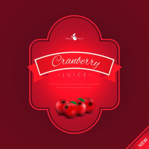 Cranberries Advertising Logo Template