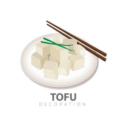 Decorazione di tofu