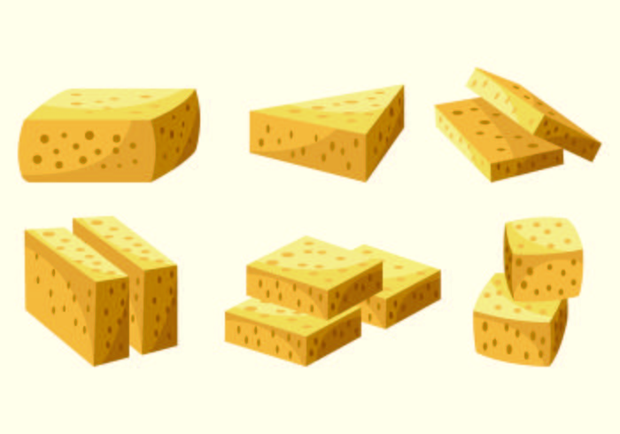 Set Of Tofu Vector