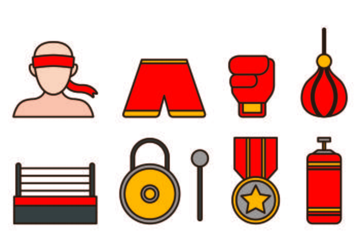 Set Of Muay Thai Icon