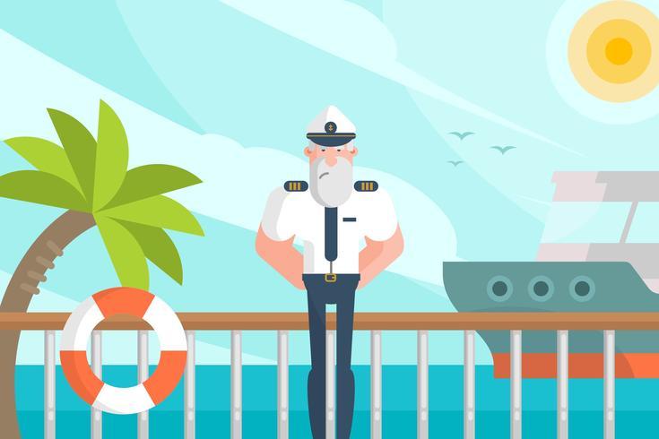 Ilustración de marinero