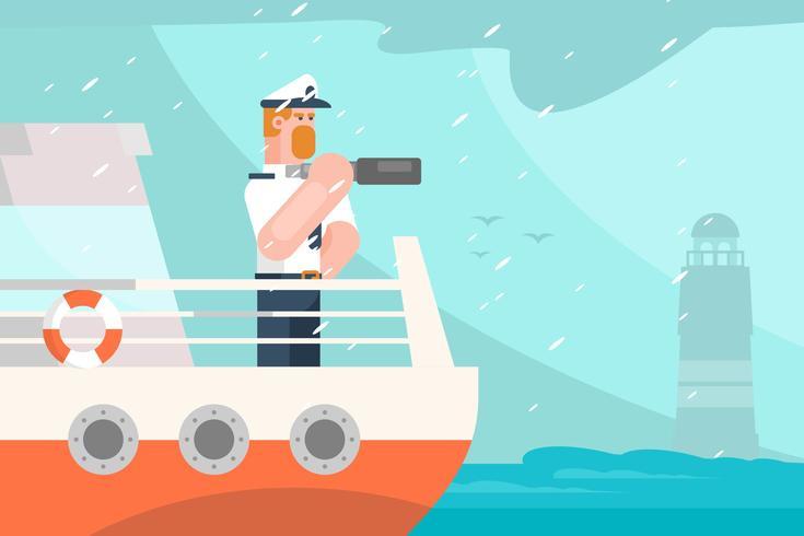 Ilustración de marinero vector