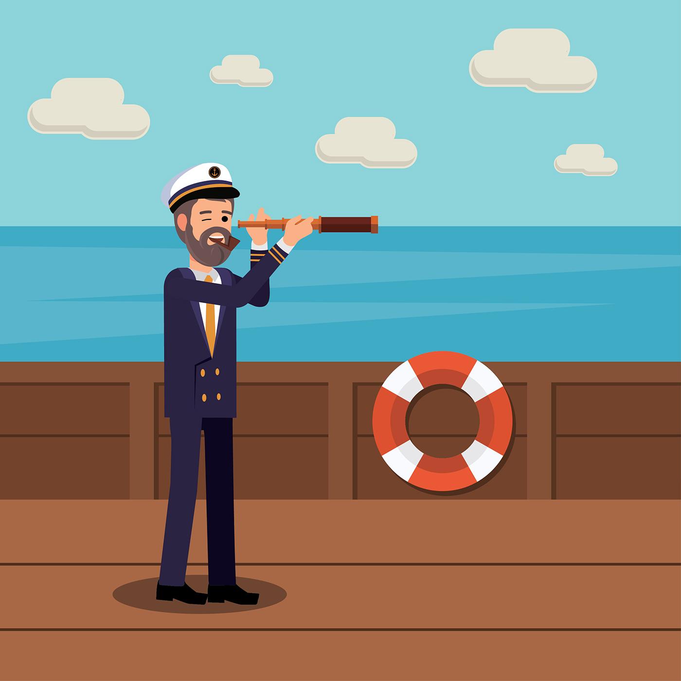 seaman illustration free vector download free vector art