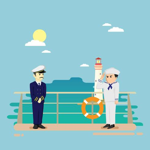 Free Seaman On Ship Illustration