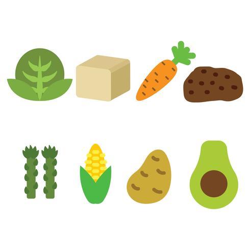 Veganistisch eten pictogram Vector