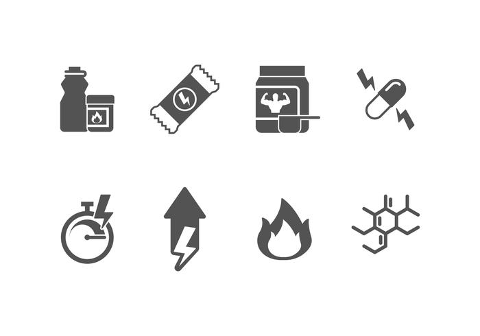 Supplement set vector icon