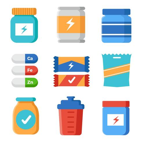 Free Sports Supplements Vector