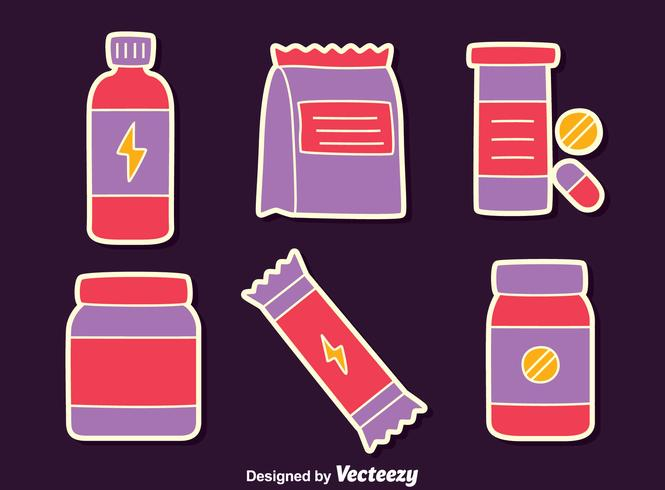Supplements Collection Vector