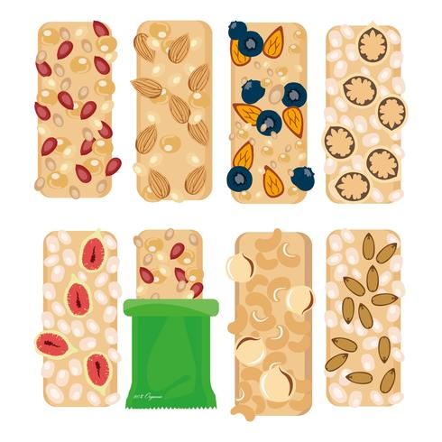 Free Granola Bars Icons Vector