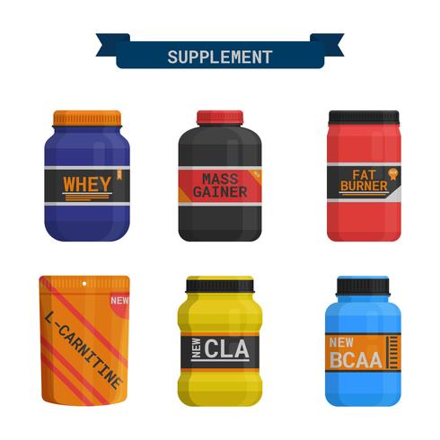 Supplement For Health Vector Collection