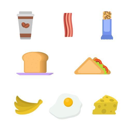 Vettori di colazione piatta