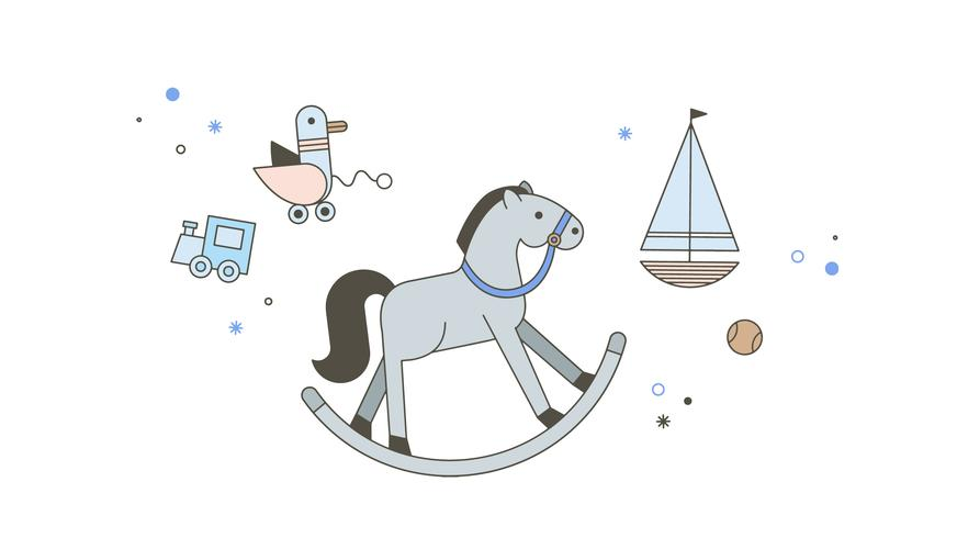 Free Rocking Horse Vector