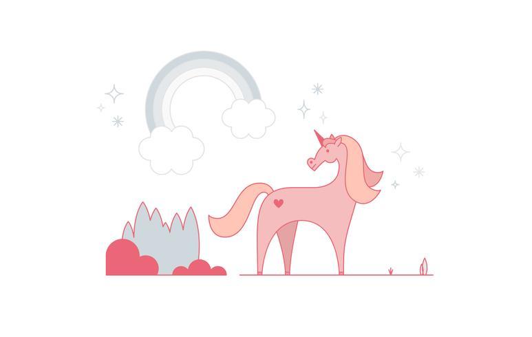 Unicornio gratis Vector