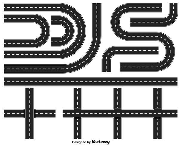 Vector Set Of Highways