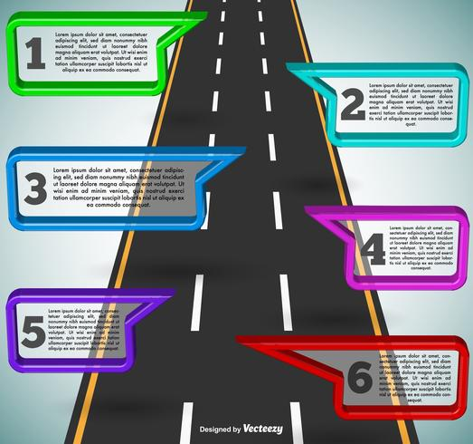 Highway Infographic Template - Vector