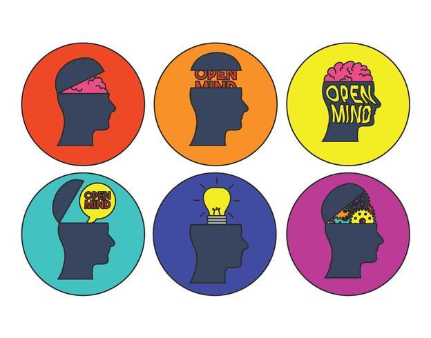 open mind vector set