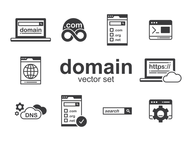 Domain Icons Vektor