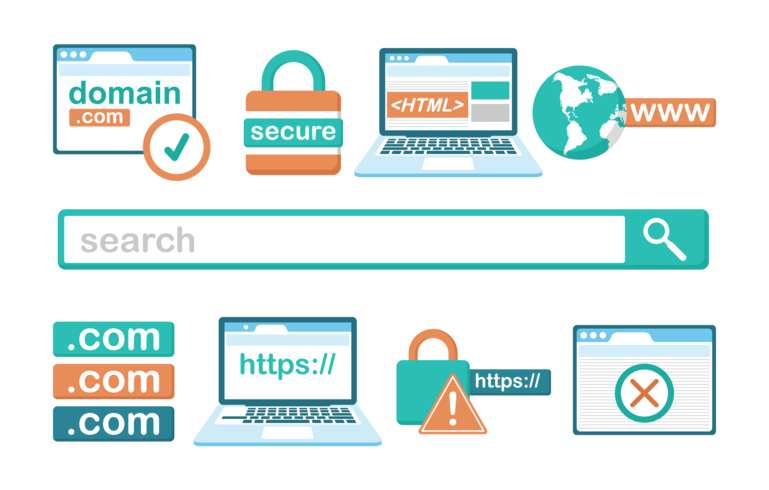 Domain Icons Vector