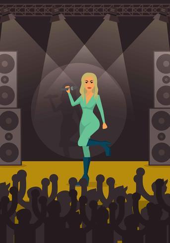 Gratis Beyonce Concert Illustratie