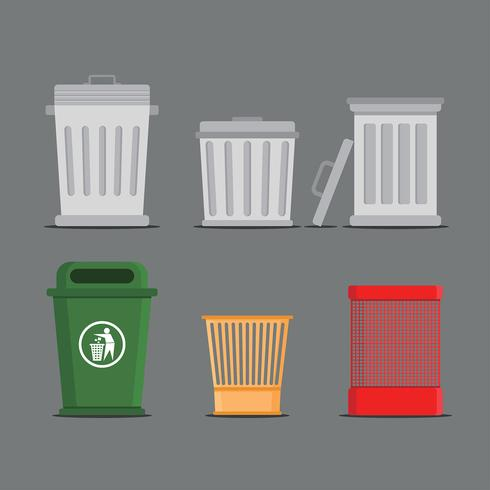 Waste Baskets Free Vector