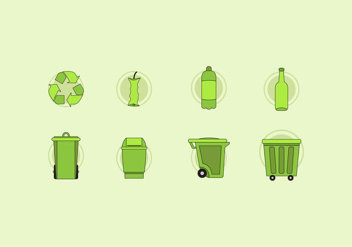 Rubbish and Waste Basket Vectors