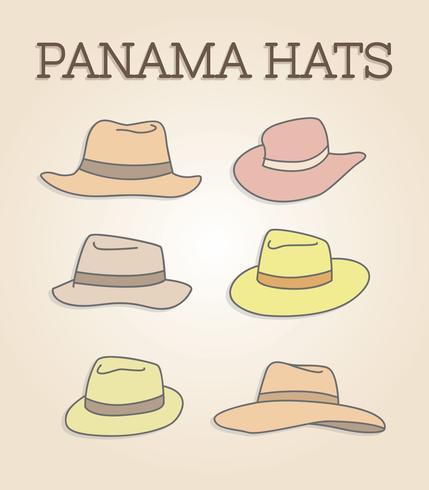 Gratis Panama hattar vektor